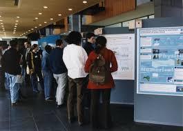 voorbeeld postersessie op een evenementenlocatie