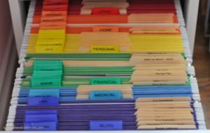 regenboog mappen voor geordende administratie